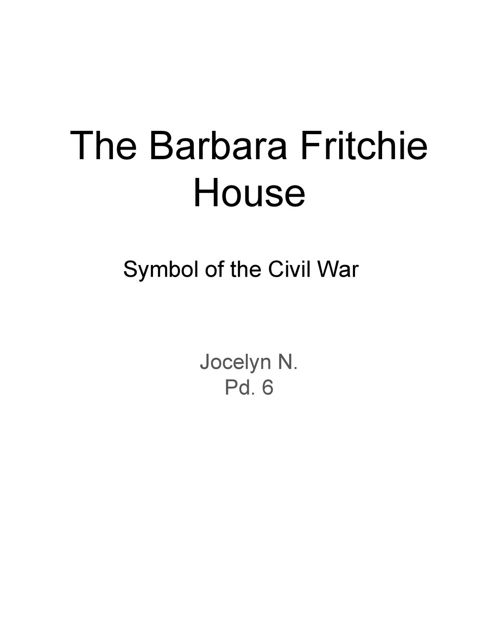 Barbara Fritchie