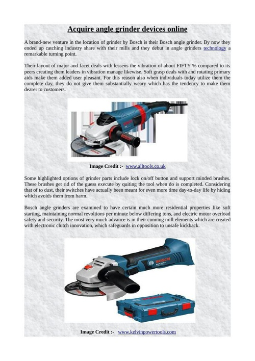 Acquire angle grinder devices online