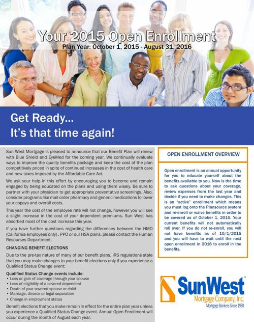 SunWest Mortgage CA Only OE Guide 2015-2016