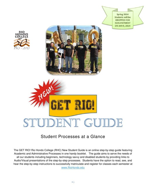 GET RIO! Student Guide S2014