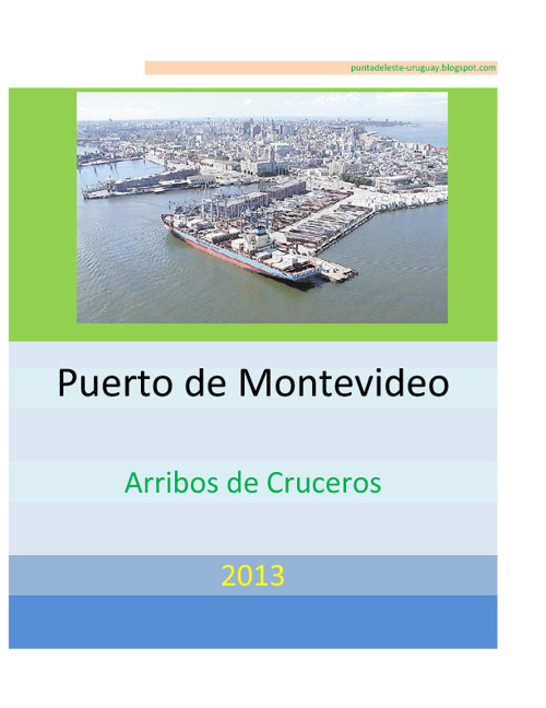 Arribos Cruceros a Montevideo 2013