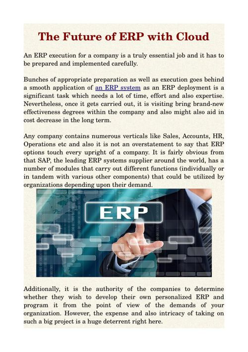 The Future of ERP with Cloud