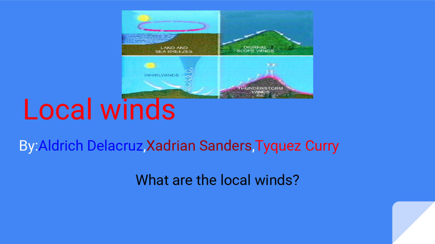 Local winds (3)