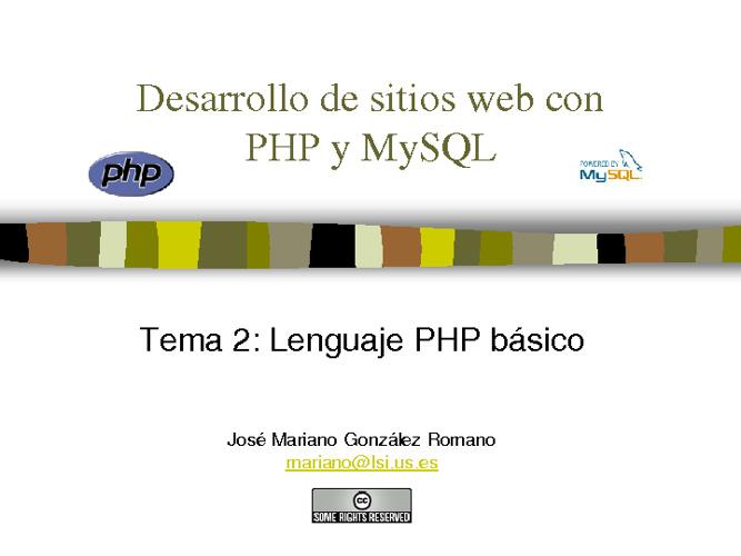 Presentacion PHP & MySQL