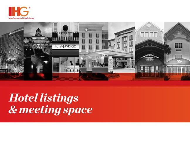 IHG Hotel Listings & Meeting Space