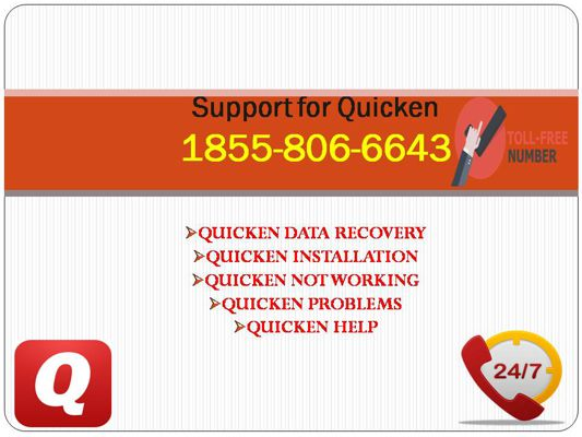 (#$$$$)1855-806-6643  Quicken Technical Support Number