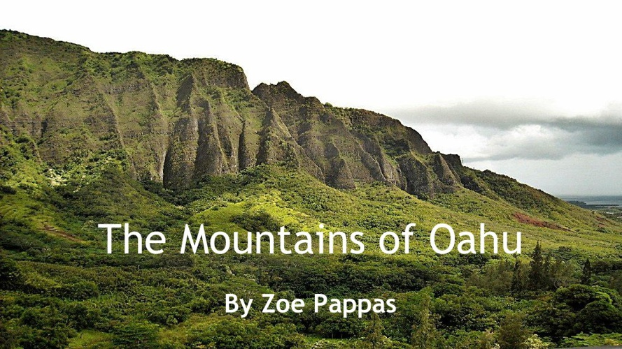 Th Mountains of Oahu