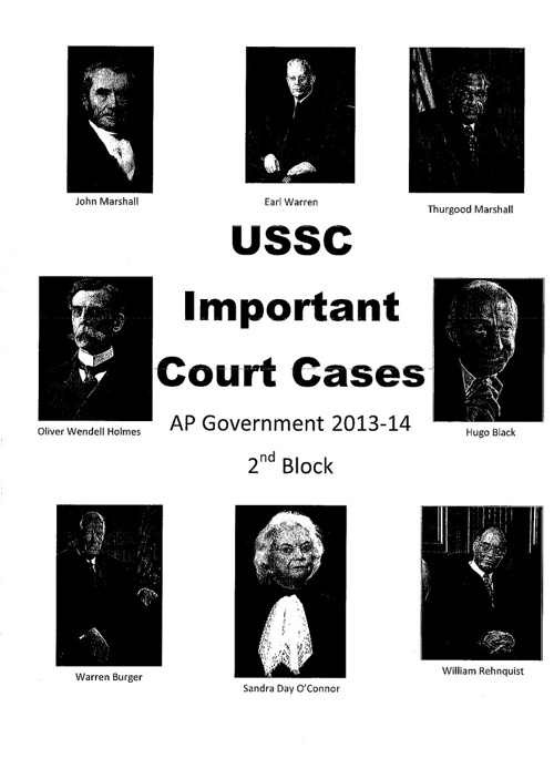 Important USSC Cases Booklet - 2nd Block