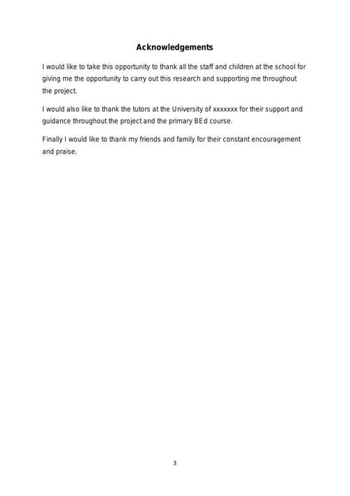 Dissertation: Exemplar 3 English - Phonics