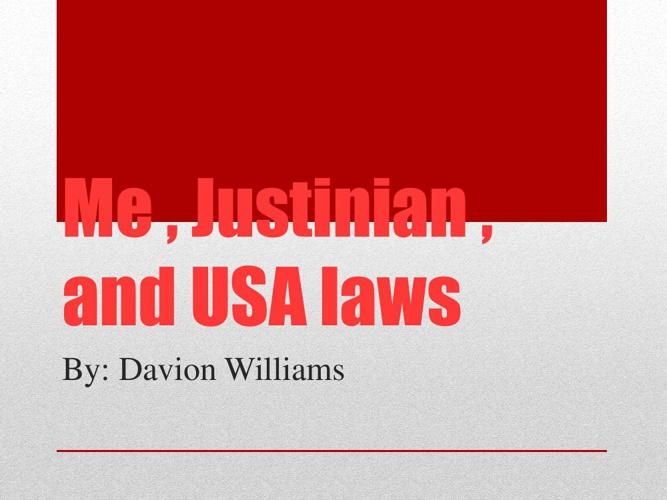 ME , J AND THE USA LAWS