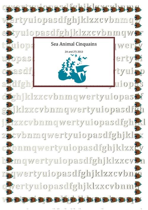 Sea Animal Cinquains