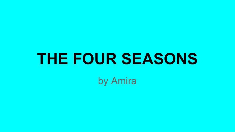 4 Seasons-amira