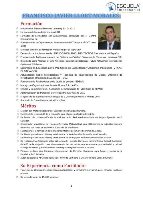 CV JAVIER LLORT 2012