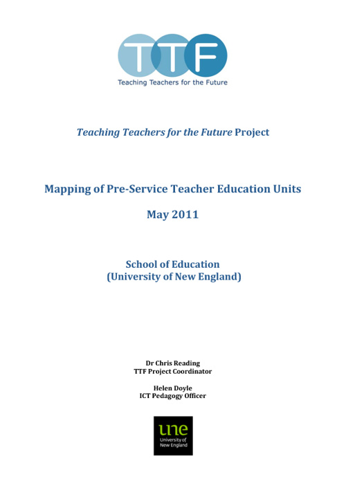 SoE Mapping Report May 2011