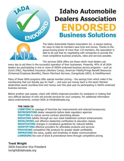 Endorsed Services Booklet March 2014