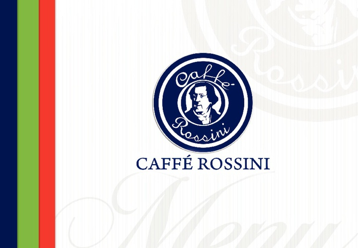 CAFFE ROSSINI MENU 2011