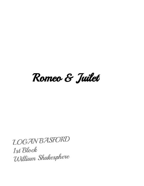 Romeo and Juliet Scrap Book