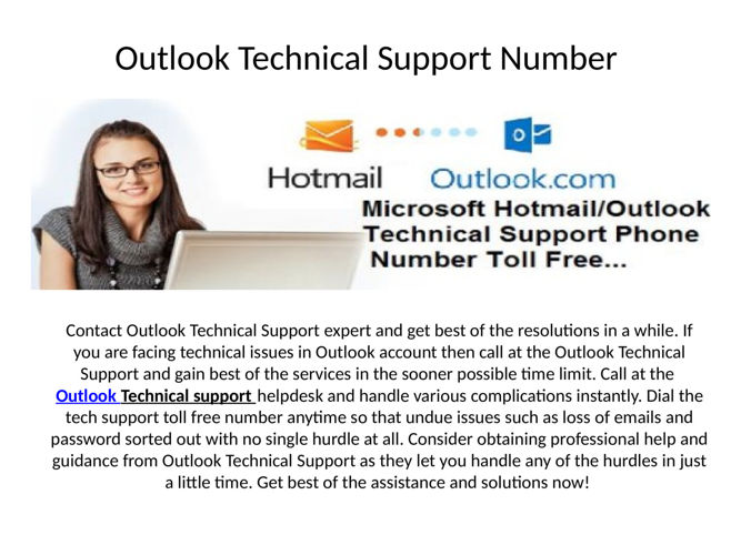 Outlook Technical Support help 24/7 for Outlook account