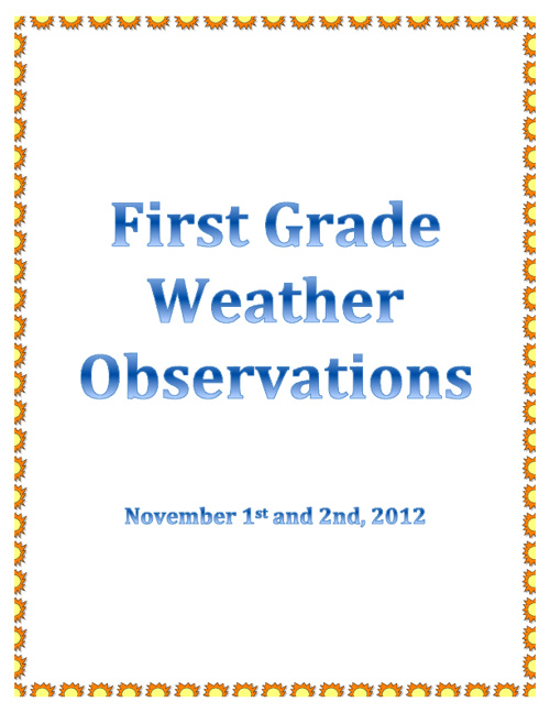 First Grade Weather Observations 1