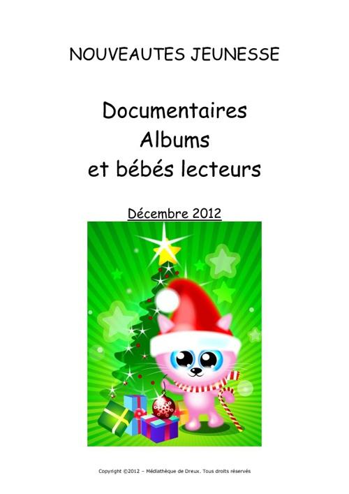 Nouveautés Albums et bébés lecteurs décembre 2012