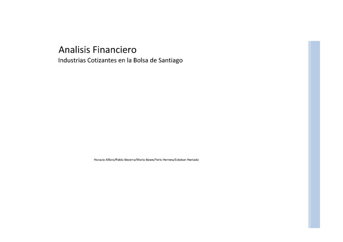Analisis Financiero Ratios