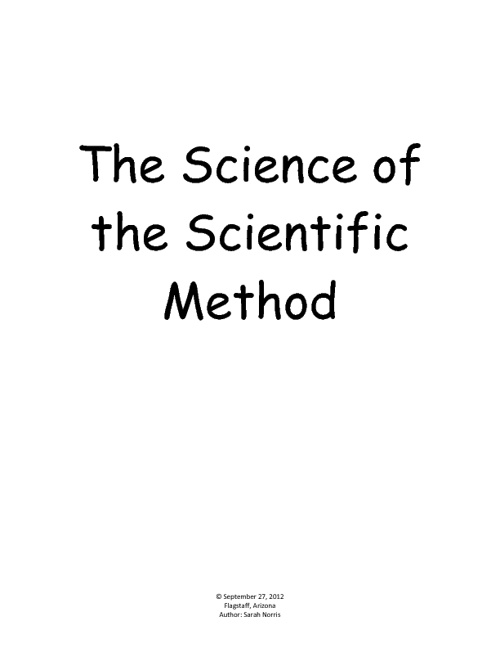 The Science of the Scienctific Method