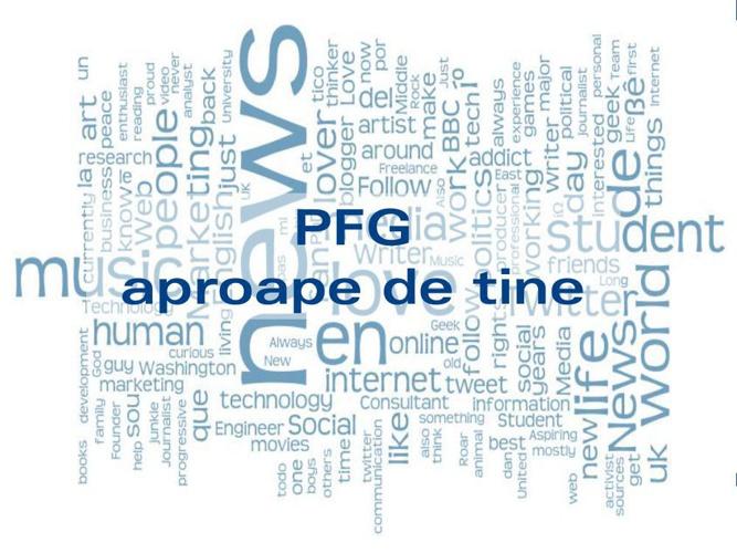 Newsletter - PFG aproape de tine