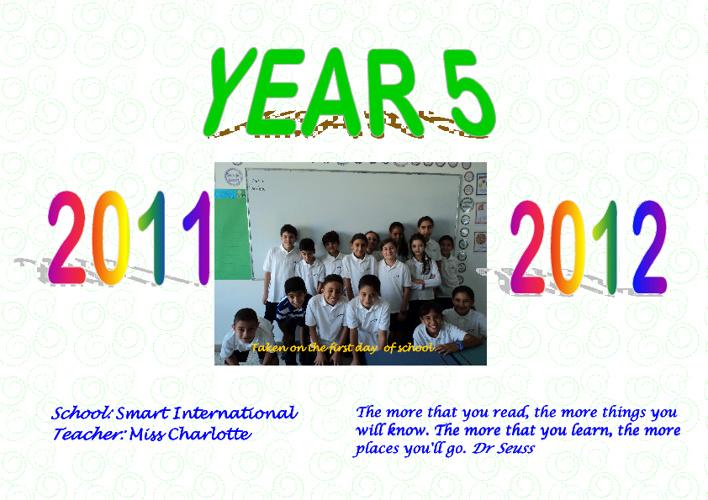 Year 5 Year Book 2011-2012