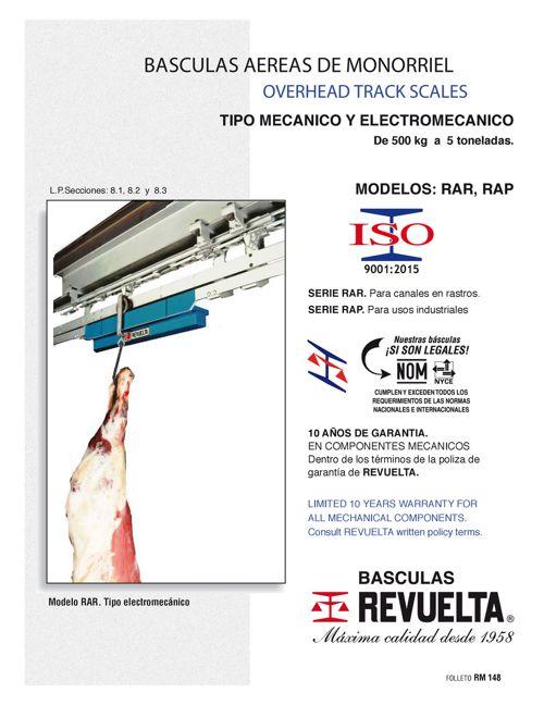 RM 148 BÁSCULAS AÉREAS DE MONORRIEL / OVERHEAD TRACK SCALES