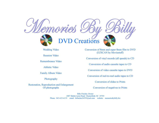 Memories By Billy Office View