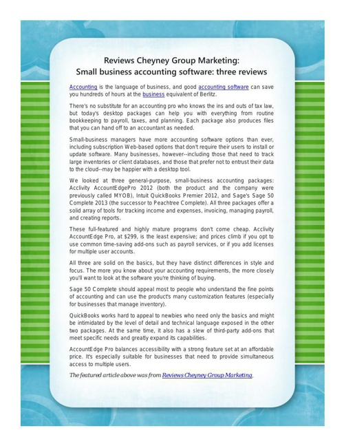 Reviews Cheyney Group Marketing