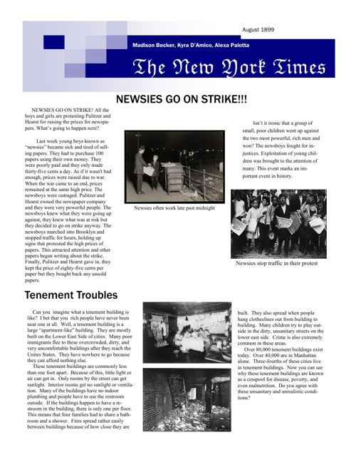 Period 3 Unit 2 Newsletter Project