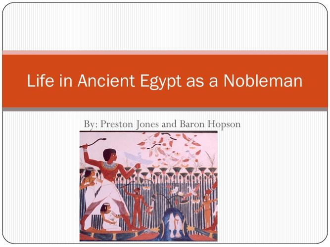 Egyptian Noblemen