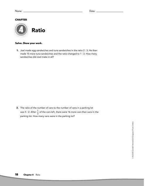 Chapter 4 Ratio