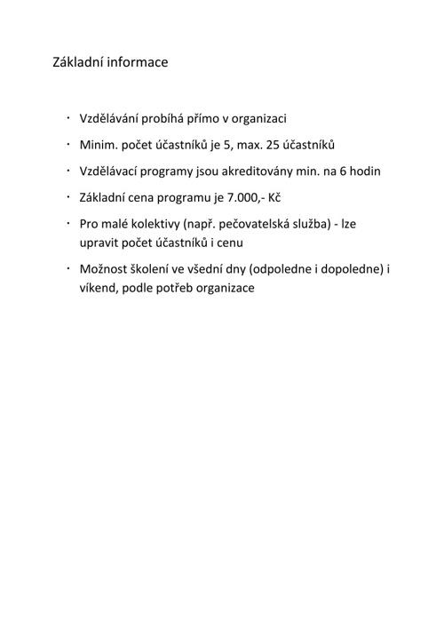 Nabídka vzdělávacích programů 2013 - 2014
