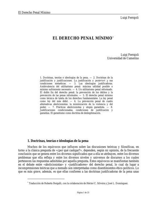 Copy of Ferrajoli, Luigi--El Derecho Penal M°nimo