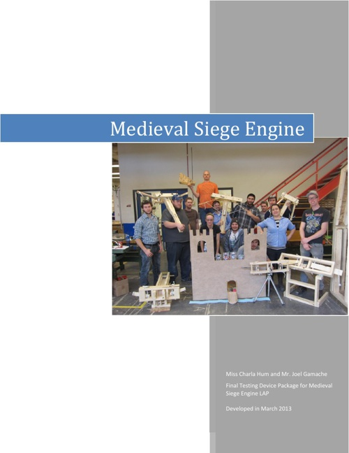 Medieval Warfare LAP Castle Testing Device Booklet