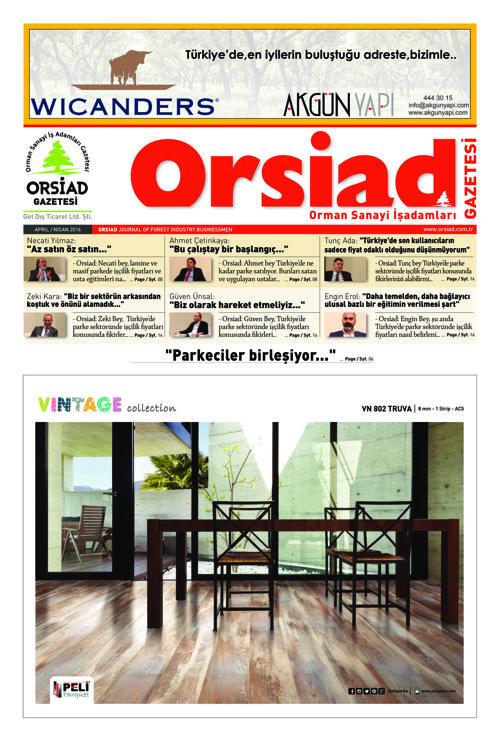 Orsiad Nisan-Eylül 2016