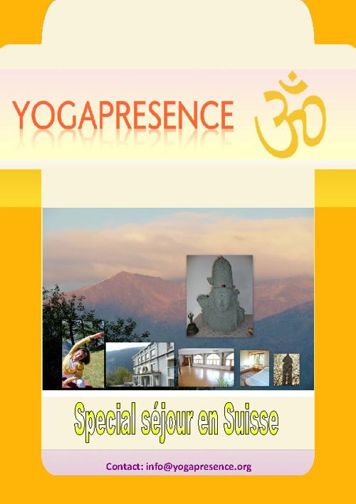 Yoga en Suisse Aout 2012