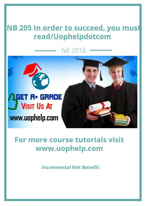 INB 205 In order to succeed, you must read/Uophelpdotcom