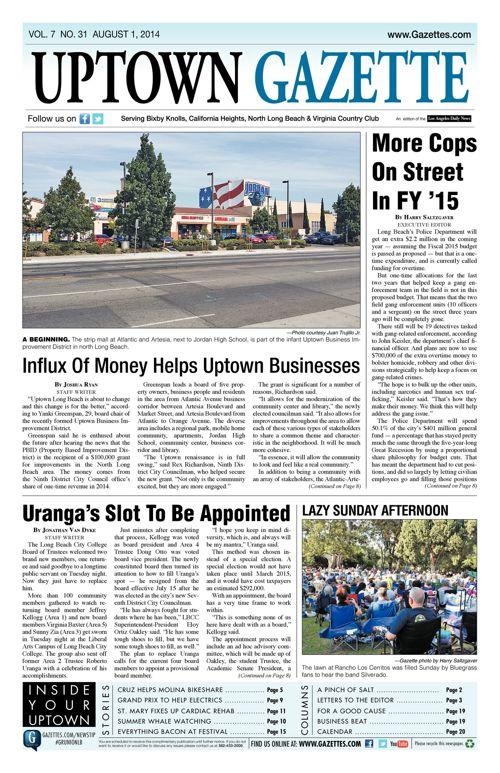 Uptown Gazette  |  August 1, 2014
