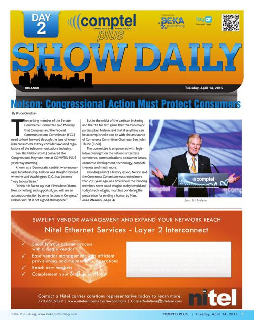 The Comptel Plus (Spring 2015) – Day 2 Show Daily