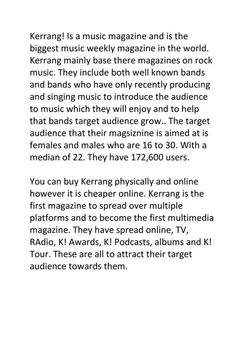 complete analysis of a music magazine