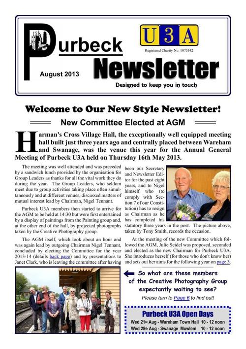 Newsletter 2013-08