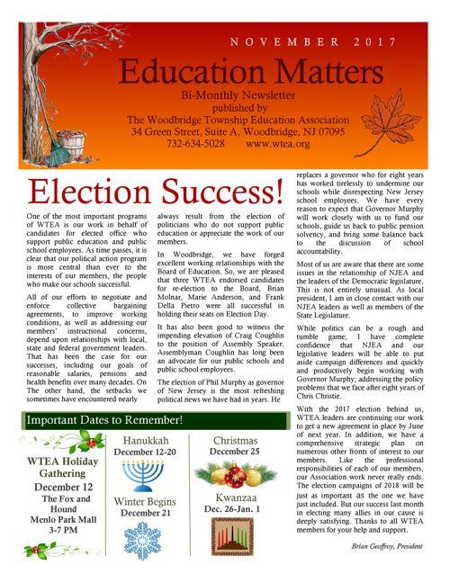 WTEA News Nov 2017