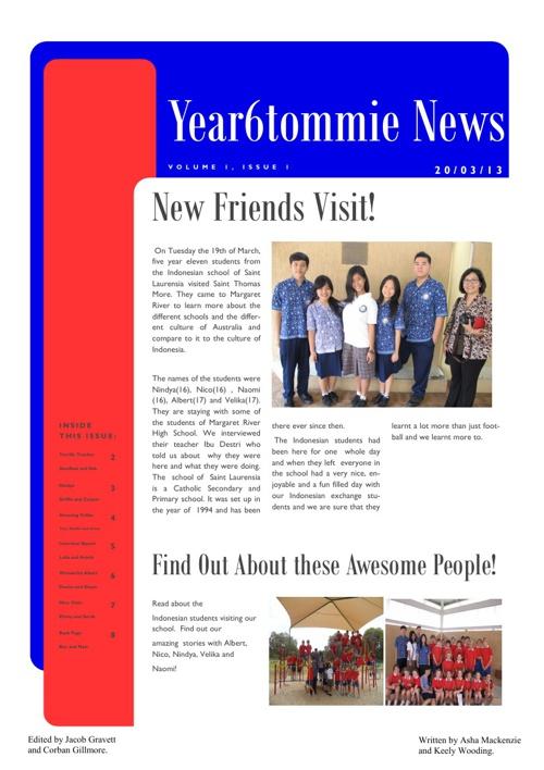 Newsletter 1 - Indonesian Student