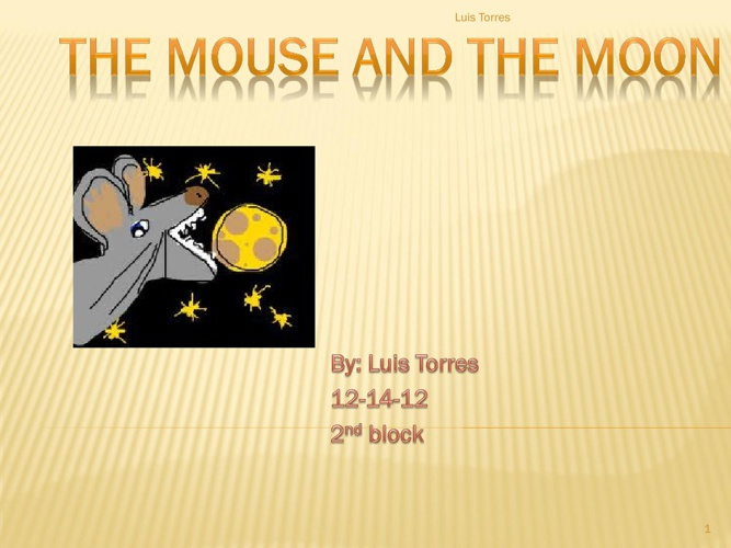 The Mouse And The Moon