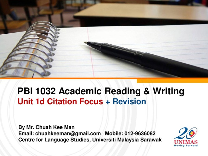 Unit 1d: Citation Focus