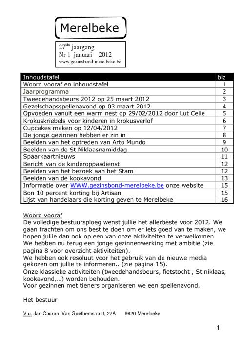 Gezinsbond Merelbeke 2012-1