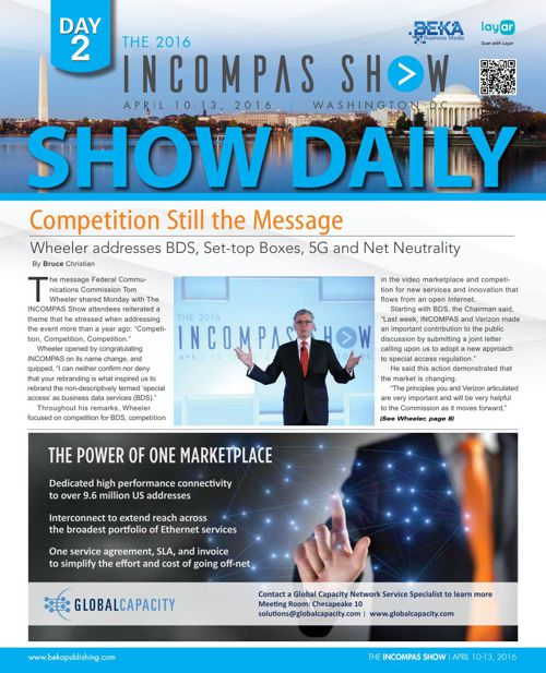The INCOMPAS Show (Spring 2016) - Day 2 Show Daily